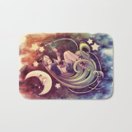 The Moon and the (Rock)Star Bath Mat