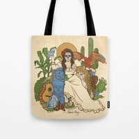 mexico Tote Bags featuring Mexico by Anne Kelley