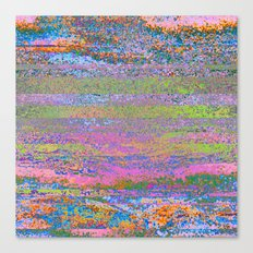 51-23-76 (Pastel Rainbow Glitch) Canvas Print