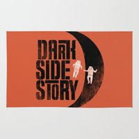 dark side Area & Throw Rugs featuring Dark Side Story by Resistance