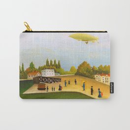 12,000pixel-500dpi - Henri Rousseau - Riverside Ivry - Digital Remastered Edition Carry-All Pouch
