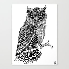 Lazy Owl Canvas Print