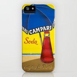 Vintage 1950 Campari Soda Lugano Advertisement by Traub iPhone Case