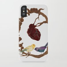 Two birds and a heart iPhone X Slim Case