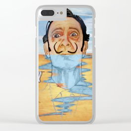 The Persistence of Dali Clear iPhone Case
