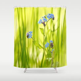 Lovely Morning Meadow Forget Me Not #decor #society6 Shower Curtain