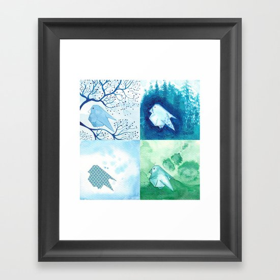4 Birds Framed Art Print