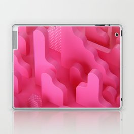 Abstract Shapes in Pink Laptop & iPad Skin