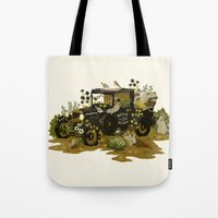 home sweet home Tote Bags featuring Home Sweet Home by Teagan White