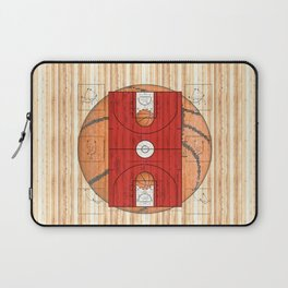 Red Basketball Court with Basketballs Laptop Sleeve