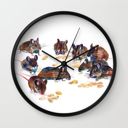 Mice Wall Clock