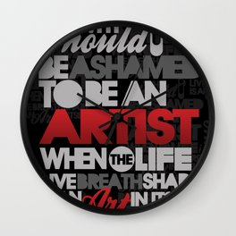 I am Artist (Black) Wall Clock