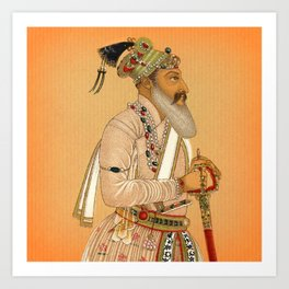 Indian Mughal with Sword Art Print