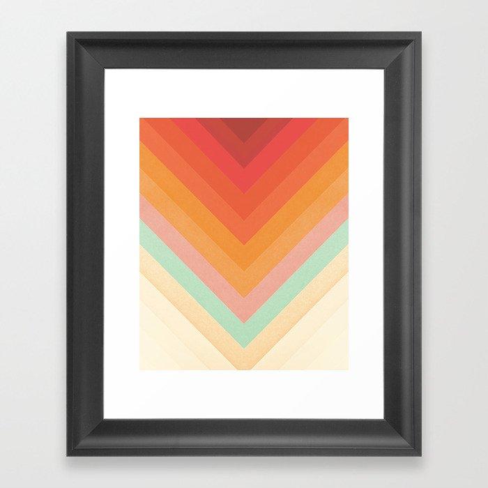 Rainbow Chevrons Gerahmter Kunstdruck