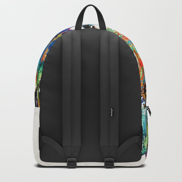Colorful Donkey Art - Mr. Personality - By Sharon Cummings Backpack