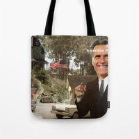 american psycho Tote Bags featuring American Psycho - 2 by Marko Köppe
