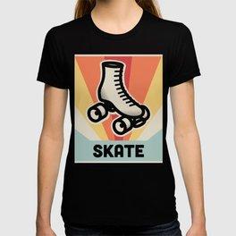 SKATE| Vintage 70s Style Roller Skating Poster T-shirt