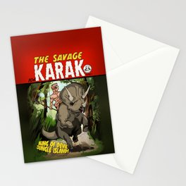 The Savage KARAK, King of Devil Jungle Island Stationery Cards