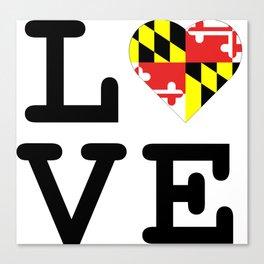 Love Maryland Canvas Print