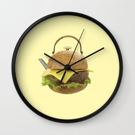 Kettle hamburger Wall Clock