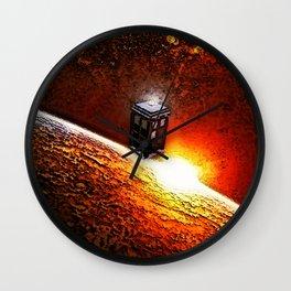 Tardis Galaxy Wall Clock