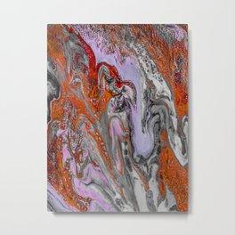 Octopus Encounter Metal Print