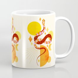 Abbstraction_SNAKE_SUN_MOON_POP_ART_Minimalism_002S Coffee Mug