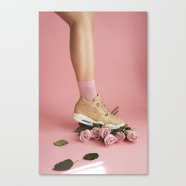 SOILANDSOLE SNEAKER AND ROSES Canvas Print