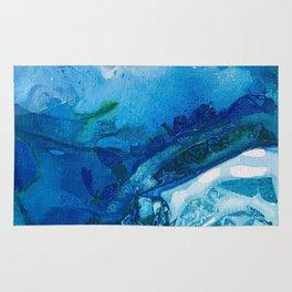 Deep Blue Ocean Life Rug