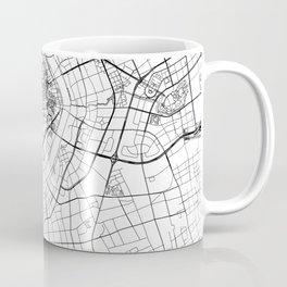 Shanghai White Map Coffee Mug