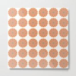 Collage of orange madalas Metal Print