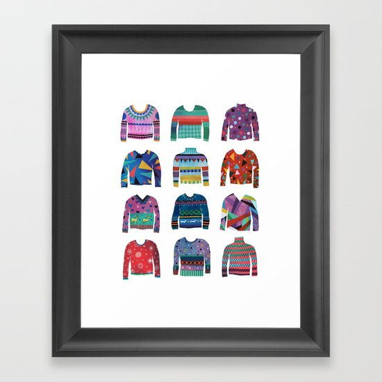 Sweater Poster Framed Art Print