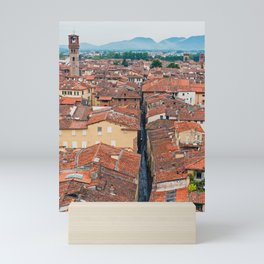 Aerial view of Lucca in Tuscany Mini Art Print