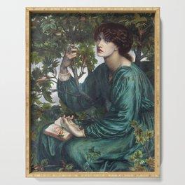 Dante Gabriel Rossetti - The Day Dream Serving Tray