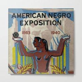 Vintage African American Negro Exposition Poster Advertisement Metal Print