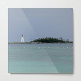 Bahamas Lighthouse Metal Print