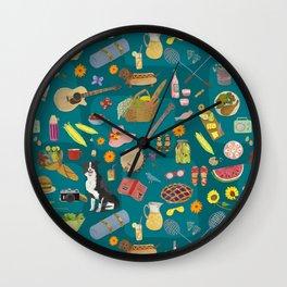 Summer Picnics Wall Clock