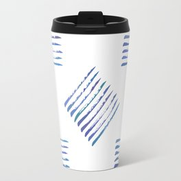 Rough stripes in blues Travel Mug