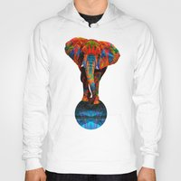 Hoodies featuring Elephant by Waelad Akadan
