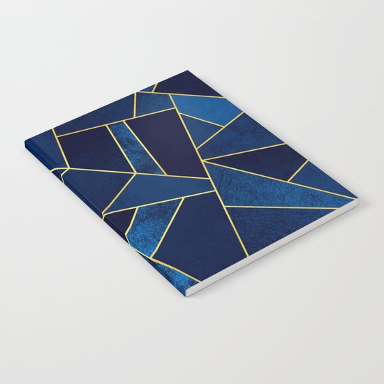 Blue stone with yellow lines Notebook