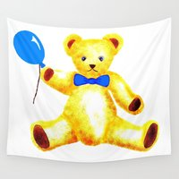 teddy bear Wall Tapestries featuring Teddy Bear by Artisimo (Keith Bond)