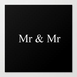 Mr & Mr Monogram Simple Canvas Print