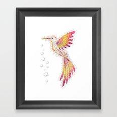 Bubble Bird Framed Art Print