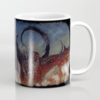 smaug Mugs featuring Smaug by Cécile Pellerin