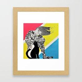 Garden Girl Framed Art Print