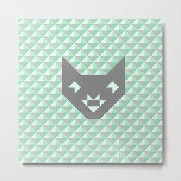Geometric Cat #society6 #decor #buyart #artprint Metal Print