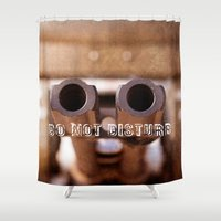 welcome Shower Curtains featuring Welcome by digital2real
