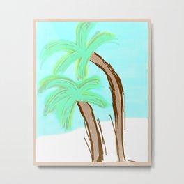 Palm Trees Awaiting a Storm #3 Metal Print