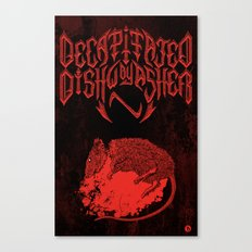 Decapitated by dishwasher III (red) Canvas Print