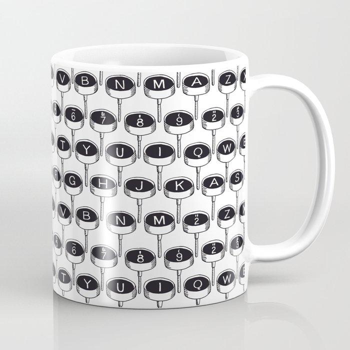 Infinite Typewriter_Black and White Coffee Mug